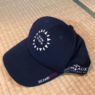 ビームス(BEAMS)のビームスゴルフ キャップ 帽子  ネイビー(ウエア)