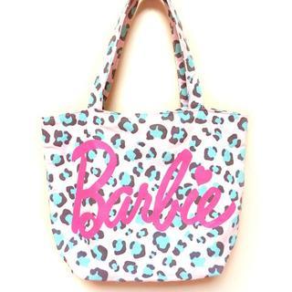 バービー(Barbie)のBarbie バービー ピンク ロゴ ヒョウ柄 トートバッグ 豹柄 レオパード(トートバッグ)