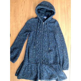 バーバリーブルーレーベル(BURBERRY BLUE LABEL)の値下げ!バーバリー裾フレアニットコート♡(ニットコート)