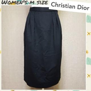 クリスチャンディオール(Christian Dior)の♡Christian Dior♡ウール素材 ロングスカート ツータック Mサイズ(ロングスカート)