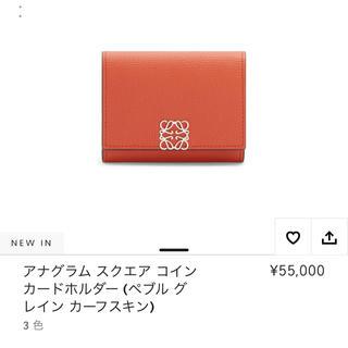 ロエベ(LOEWE)のロエベ新作 カードケース パンプキン(名刺入れ/定期入れ)