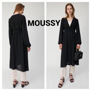マウジー(moussy)のMOUSSY GEORGETTE ロング ガウン(カーディガン)