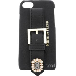 メゾンドフルール(Maison de FLEUR)の新品未使用 Maison de FLEUR ビジュー 皮 iPhone78 SE(iPhoneケース)