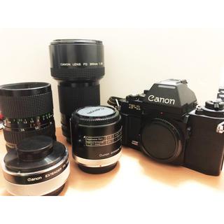 Canon F-1+FD35-70 F4+FD200 f2.8+テレコンセット