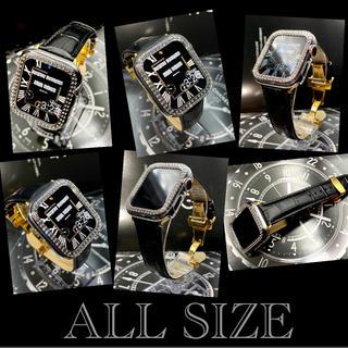 アップルウォッチカスタムカバー ベルトセット 本革レザー アップルウォッチダイヤ(腕時計(デジタル))
