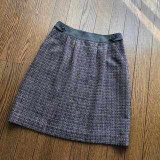 ジェイプレスレディス(J.PRESS LADIES)の美品☆ジェイプレスレディ スカート ツイート(日本製)(ひざ丈スカート)