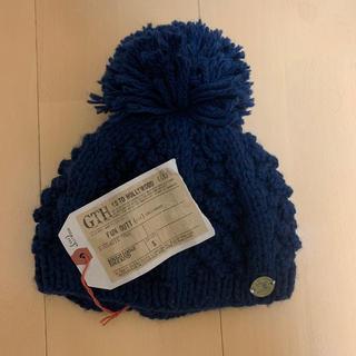 ゴートゥーハリウッド(GO TO HOLLYWOOD)のGO TO HOLLYWOOD☆新品 ニット帽 ネイビー サイズS(帽子)