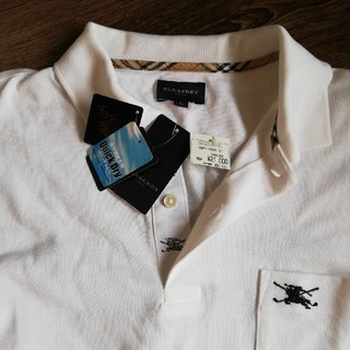 BURBERRY - 21000円新品未使用バーバリーBURBERRY白ポロシャツL長袖メンズ速乾