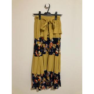 ローズバッド(ROSE BUD)のROSE B BUD 花柄ロングスカート(ロングスカート)