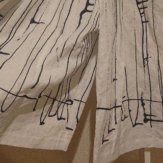 ミナペルホネン(mina perhonen)の【専用出品】 ミナペルホネン rain track レイントラック ワイドパンツ(クロップドパンツ)
