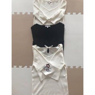 プロポーションボディドレッシング(PROPORTION BODY DRESSING)の3枚セット ニット カットソー プロポ(カットソー(半袖/袖なし))
