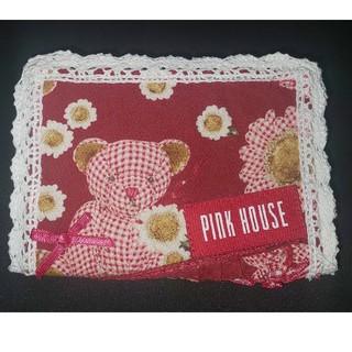 ピンクハウス(PINK HOUSE)のハンドメイド ピンクハウス ギンガムクマ・くま・テディベア フリル カードケース(その他)