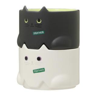 Starbucks Coffee - 【新品】スターバックス ハロウィン 黒猫 白猫マグカップ