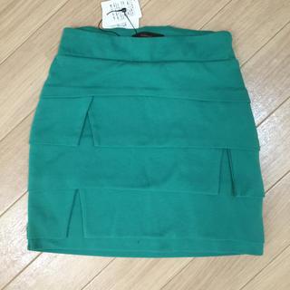リエンダ(rienda)のrienda♡グリーンミニスカート♡XS(ミニスカート)