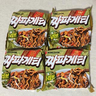 チャパゲティ4個  韓国食材  ジャージャー麺 インスタント