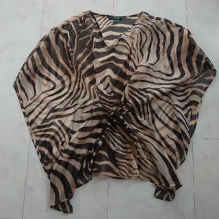 ポロラルフローレン(POLO RALPH LAUREN)のラルフローレン ゼブラ柄 ポンチョみたいなシャツ(シャツ/ブラウス(半袖/袖なし))