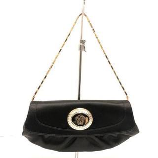 ヴェルサーチ(VERSACE)のヴェルサーチ ハンドバッグ美品  - 黒(ハンドバッグ)