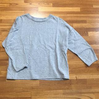 メルローズ(MELROSE)のLiesse リエス スタンドネックカットソー グレー 7分袖 Tシャツ 美品(カットソー(長袖/七分))