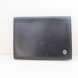 カルティエ(Cartier)のカルティエ カードケース パシャ 黒 レザー(名刺入れ/定期入れ)
