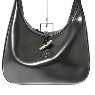 ロンシャン(LONGCHAMP)のロンシャン ショルダーバッグ美品  - 黒(ショルダーバッグ)