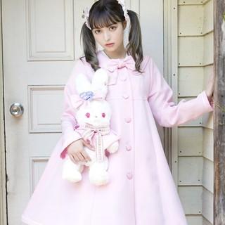 アンジェリックプリティー(Angelic Pretty)のbunny collegeRainyコート ピンク(ロングコート)