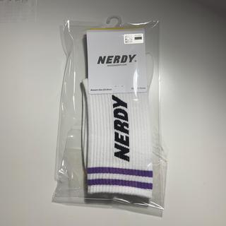 クツシタヤ(靴下屋)のNERDY 新品未開封 NY Socks white s (ソックス)