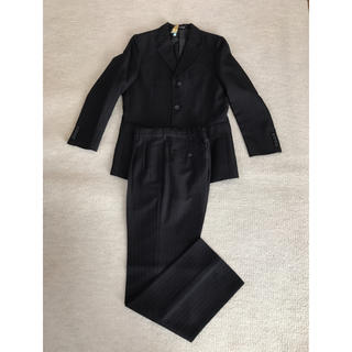 ヒロミチナカノ(HIROMICHI NAKANO)のスーツ ボーイズ 165cm ブラック×グレーステッチ(ジャケット/上着)