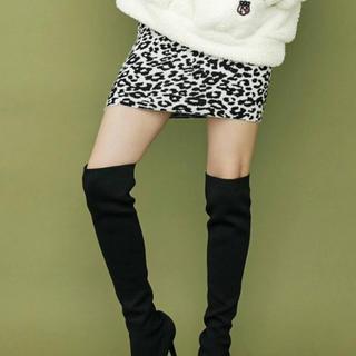 ジェイダ(GYDA)のレオパードニットタイトスカート(ミニスカート)