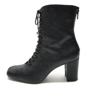 ミラオーウェン(Mila Owen)のミラオーウェン ショートブーツ 38 黒(ブーツ)