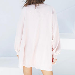 ALEXIA STAM - Back Separated Logo Long Sleeve Tee Pink
