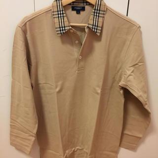 BURBERRY - 送料無料!バーバリー Burberry七分袖 ポロシャツ サイズS 超美品!