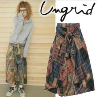 アングリッド(Ungrid)のアングリッド ビンテージ風パッチワークスカート (ロングスカート)