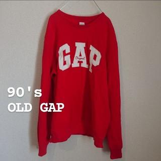ギャップ(GAP)の90's OLD GAP ビッグロゴスウェット 裏起毛(トレーナー/スウェット)
