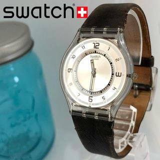 スウォッチ(swatch)の49 スウォッチ時計 新品電池 スケルトン 男女兼用 軽量時計(腕時計(アナログ))