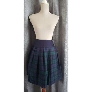 オニール(O'NEILL)の大変美品 ONEIL ブラックウォッチの可愛いスカート ウール 100(ひざ丈スカート)