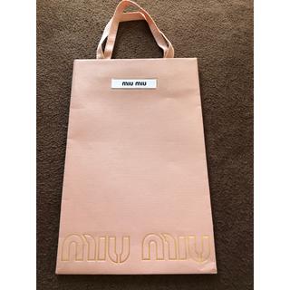 ミュウミュウ(miumiu)のミュウミュウ ショップバッグ(ショップ袋)