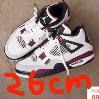 ナイキ(NIKE)のPSG × Nike Air Jordan 4  26cm 早い者勝ち(スニーカー)