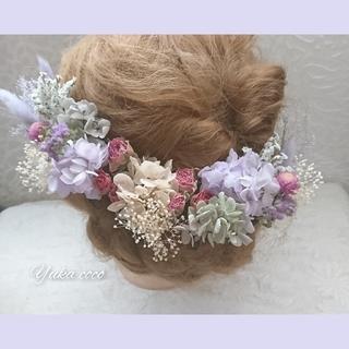 ともか様専用❁︎ドライフラワー ヘッドドレス 髪飾り❁︎(和装小物)