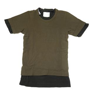 サカイ(sacai)のR200960)SACAI 20ss 重ね着 レイヤードTシャツ メンズ3 (Tシャツ/カットソー(半袖/袖なし))