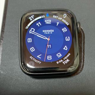 エルメス(Hermes)のApple Watch Hermès 44mm series5 ブラック(腕時計(デジタル))