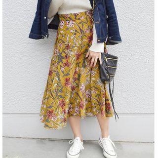 シップス(SHIPS)のSHIPS Khaju:フラワープリントスカート(ロングスカート)