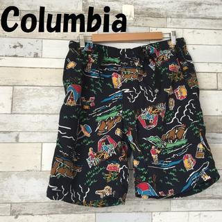 コロンビア(Columbia)の【人気】コロンビア 総柄 水着 ハーフパンツ ブラック XL(ショートパンツ)