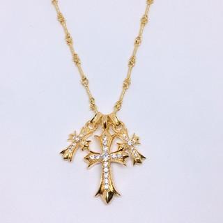ダミアーニ(Damiani)の最高品質✨クロス豪華4点セット✨22k GOLD plating ネックレス(ネックレス)