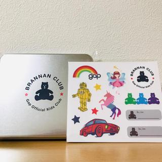 ギャップ(GAP)のGAP ブラナンクラブ 入会特典 非売品 オリジナル缶ケース 布用ステッカー(ノベルティグッズ)