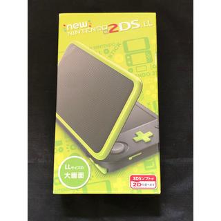 ニンテンドー2DS(ニンテンドー2DS)の新品 任天堂 2DS LL ブラック × ライム(携帯用ゲーム機本体)