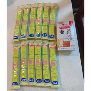 明治 - 明治 ほほえみ らくらくキューブ12袋+和光堂 麦茶粉末8包