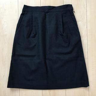 サニーレーベル(Sonny Label)のアーバンリサーチサニーレーベル 台形ひざ丈スカート ネイビー(ひざ丈スカート)