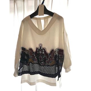 マメ(mame)の【新品タグつき】マメ mame 刺繍スウェット ホワイト 16AW  サイズ1(トレーナー/スウェット)