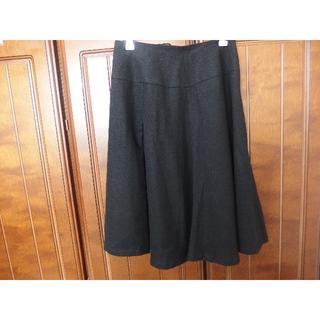 シビラ(Sybilla)のシビラスカート 毛100% 黒 Lサイズ(ひざ丈スカート)