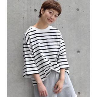 ダブルクローゼット(w closet)のBIGボーダーTee(Tシャツ(長袖/七分))